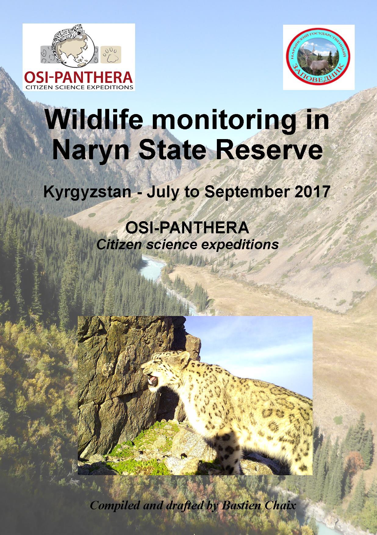 Couverture du rapport de Naryn 2017