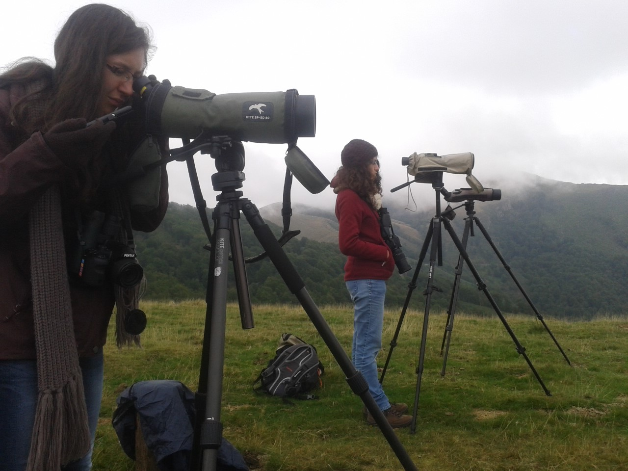 Matériel d'observation de terrain